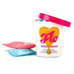 Flo - Organic Biodegradable Applicator Tampon Pack (14 Applicator Tampons – 8 Regular & 6 Super)BEFL003
