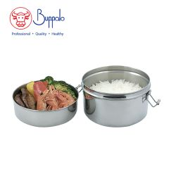 Buffalo - 18/10 stainless steel lunch box_Round BFX001-16
