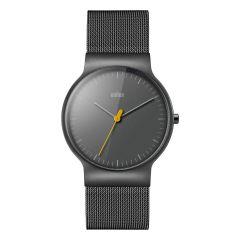 Braun Classic Slim Watch with Titanium Finish Mesh Bracelet Dark Grey BN0211TIMHG BN0211TIMHG