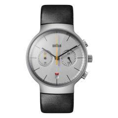 Braun Classic Chronograph Watch with Leather Strap Black BN0265SLBKG BN0265SLBKG