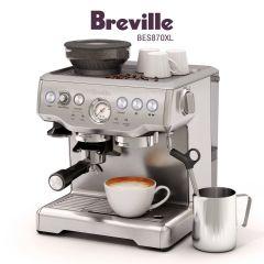 鉑富 - 意式咖啡機 BES870 配迷你咖啡敲粉盒 BES001 BR0003