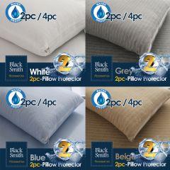 Black Smith - Waterproof Protector II Pillow Case (2pcs/4pcs) (4 colors option) BS_M001_Pillow_Case