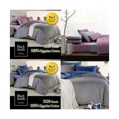 Black Smith 床上用品 - 3124針埃及棉雙面床品套裝(2色選擇)(單人/雙人/加大/特大)