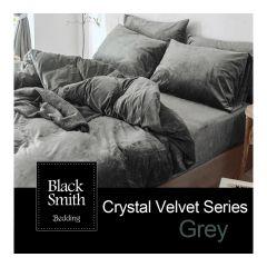 Black Smith 床上用品 - 鎖溫水晶絨系列(灰色)(單人/雙人/加大/特大)