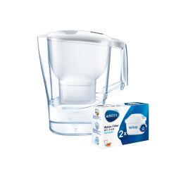 BRITA - [1Jug+3Filters/7Filters/13Filters] Aluna XL 3.5L Water Filter Jug + Maxtra+ Filters BTA-AXL-P2-MO