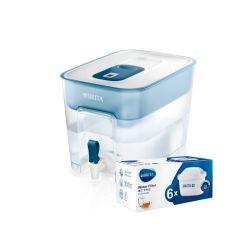 BRITA - [1Cask+7Filters] Flow 8.2L Water Filter Cask (Blue) + Maxtra+ Filters (Pack 6) BTA-FLOW-P6