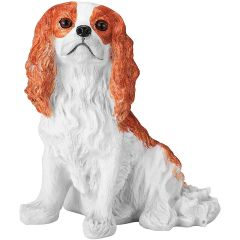 "Chapman Sculptures Hand Painted Solid Ceramic Dog Statue 5.6""Blenheim Color C0009CSDCKC"