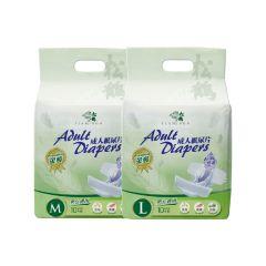 [原箱優惠] 松鶴 防漏型金裝紙尿片(10片/包) x10包,送松鶴濕紙巾1包