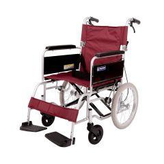 日本Kawamura BM 基礎調節型輪椅18寸-座寬細轆, 固定扶手,腳踏