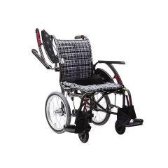 日本Kawamura WAP 曲線車架多功能型輪椅 16.8寸座闊細轆-A13藍色 C01030484