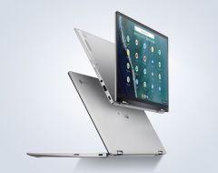 "ASUS Chromebook Flip 14""筆記型電腦/FHD Touch/Chrome OS/(i5-10210U/8G/128G PCIe SSD)/(i7-10510U/16G/512G PCIe SSD)/銀色/2年保養 (90NX0PS1_C436FA)"