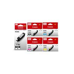 Canon - 770xl PGBK + 771xl C/M/Y/K genuine ink set ca-770xlset
