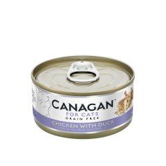 Cangan - 雞肉伴鴨肉 無穀物貓罐頭 75g (原箱12罐) Can-WetChickDuck