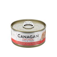 Cangan - 雞肉伴蝦 無穀物貓罐頭 75g (原箱12罐) Can-WetChickPrawn