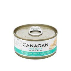 Cangan - 雞肉伴沙甸魚 無穀物貓罐頭 75g (原箱12罐) Can-WetChickSard