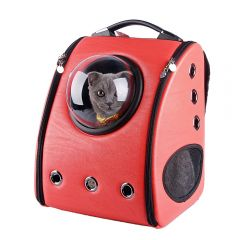 U-pet - Bubble Pet Carriers Backpack (Red) CB005F-Red