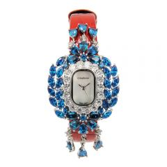 Crisathena - 吊燈系列手錶紅色-白金 CC09-CRBWB-WG