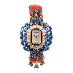 Crisathena - 吊燈系列手錶紅色-玫瑰金 CC10-CRBWB-RG