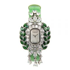 Crisathena - 吊燈系列手錶綠色-白金 CC11-CGGWW-WG