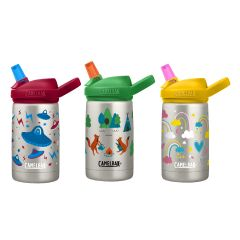 CamelBak Vacuum Insulated Stainless Eddy+® Kids 0.4L │ Durable BPA Free (Camping Foxes / Rainbow Love / UFO's) CC228410