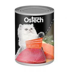 Ostech - 貓 濕糧 金槍魚&三文魚罐頭 400g
