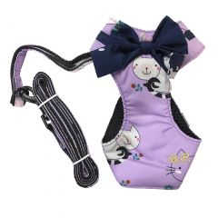 Blue Port - 貓咪胸背牽引繩 - 紫色 CDTR62-all