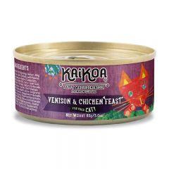 KAIKOA - 紐西蘭鹿肉&雞肉成貓罐頭 (無殻物配方) - 85g【賞味期限:01/08/2022】