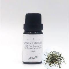 Aster Aroma Organic Citronella Essential Oil (Cymbopogon nardus) - 10ml CL-020120010O