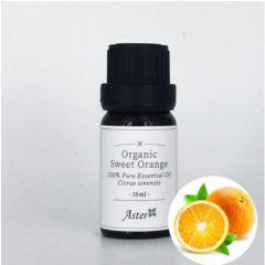 Aster Aroma Organic Orange Sweet Essential Oil (Citrus sinensis) - 10ml CL-020370010O
