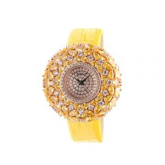 "Crisathena - ""Macaron"" Quartz Watch in Yellow - Rose Gold CM06-MYWY-RG"