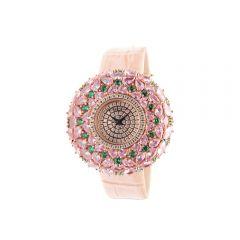 """Crisathena - """"Macaron"""" Quartz Watch in Pink - Rose Gold CM07-MPGWP-RG"""
