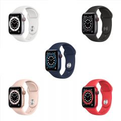 Apple Watch Series 6 (GPS + Cellular) 40mm Aluminum Case with Sport Band (2020) CR-AW640SB-O2O