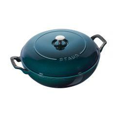 staub 雙耳鍋 (30厘米/3.3升) (海洋藍) CR-CH-STAUB-B-WH
