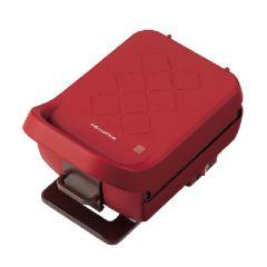 Recolte Plaid 厚燒格子三明治機 - 紅色 CR-GOLSREC003-R
