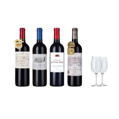 Laithwaites Direct Wines – 4-bottle Prestige GOLD Bordeaux plus FREE Bordeaux Glasses CR-LDW-011