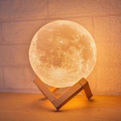 SmartLife Moon Shape LED Light With Bluetooth Speaker CR-LINKRM07