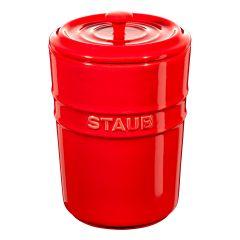 staub 陶瓷儲存瓶 (1.0L) (紅) CR-SBNY002