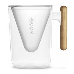 SOMA 6-Cup Water Filter Pitcher (48oz) (White) CR-SOMA6-48W
