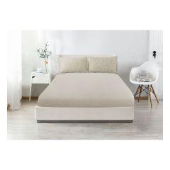 CASA-V - Pearl Silk Series Fitted Sheet & Pillow Case #VB045 CR-VB045