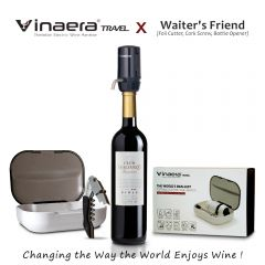 Vinaera-Travel Portable Set (Vinaera Travel Aerator +  Vinaera Waiter's Friend) CR-WARWICK-002