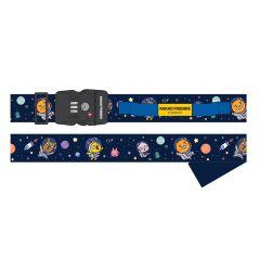 Kakao Friends - (Space Theme) Luggage Strap with TSA Combination Lock CR-YT3102