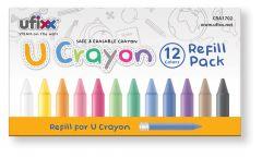 ufixx 12色柔麗蠟筆 (補充裝) CRA1702