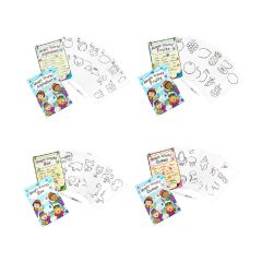 C.S. Kids - Magic World (Pack of 5 cards with 1 FREE Water Brush Pen) (4 Options) cskidsFC