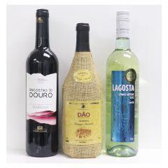Encostas do Douro Tinto 紅酒 750ml x 2支 + Lagosta DOC Vinho Verde 白酒 750ml x 2 支 + Caves Velhas Dao Reserva Tinto 紅酒 750ml x 2支 (送3罐葡萄牙沙甸魚)-數量有限