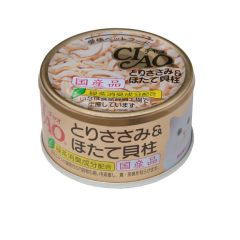 CIAO -  WHITE - CHICKEN & SCALLOP (6 CANS / 24 CANS) D4901133060618