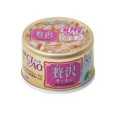 CIAO -  DELUXE SALMON & MAGUROŸCHICKEN (6 CANS / 24 CANS) D4901133062506