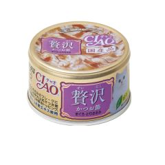 CIAO -  DELUXE BONITO FLAKES & MAGUROŸCHICKEN (6 CANS / 24 CANS) D4901133062520