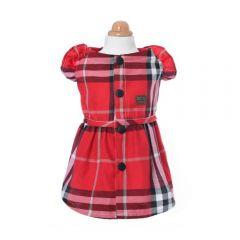H.CHOUCHOU - 紅色格仔公主裙