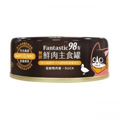 汪喵星球 - 98% Fantastic 鮮肉主食罐 低敏鴨肉貓罐頭 80g