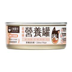 汪喵星球 - 幼母貓98%鮮肉無膠營養主食罐 鮭魚餐 貓罐頭 80g x 3罐